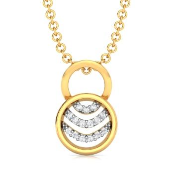 Ripple Round Diamond Pendants