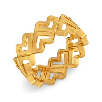 Roses of Love Gold Rings
