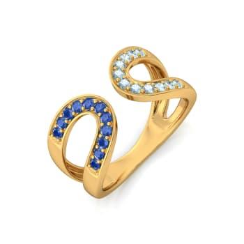 Lunar Eclipse Gemstone Rings