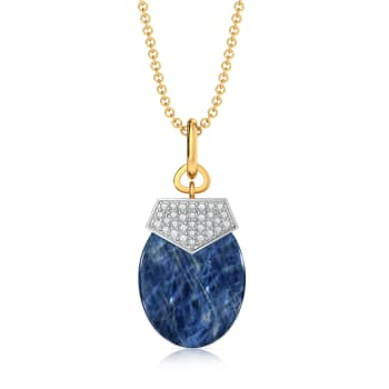 Blue Hue Diamond Pendants