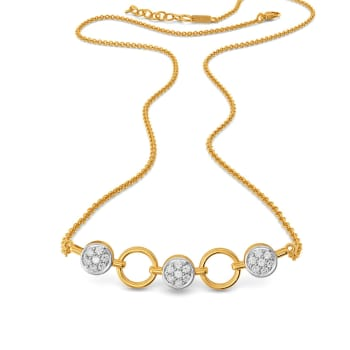 Button N Loops Diamond Necklaces