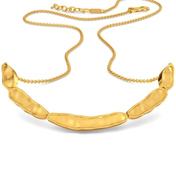 Curvy Cascades Gold Necklaces