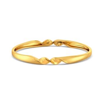 Ruffle Twirl Gold Bangles
