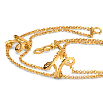 Sleeve O Swirls Gold Bracelets