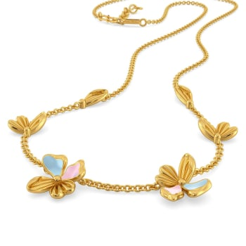 La Flor Gold Necklaces