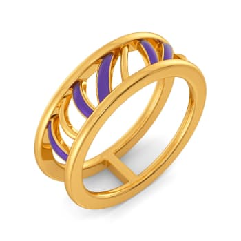 Violet Vibes Gold Rings