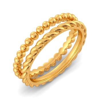 Flick A Fringe Gold Rings