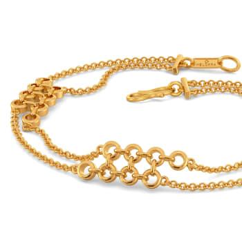 Woven in Net Gold Bracelets