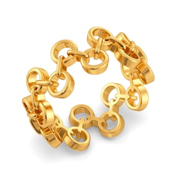 Niche Nets Gold Rings