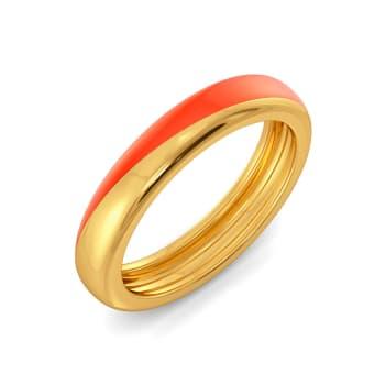 Tangerine String Gold Rings