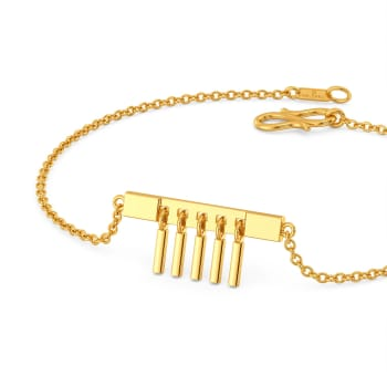 Flaunt the Fringe Gold Bracelets