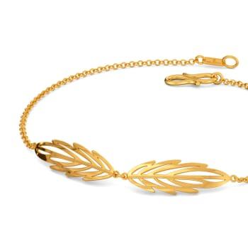 Feathery Fun Gold Bracelets