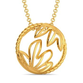 Floral Blooms Gold Pendants