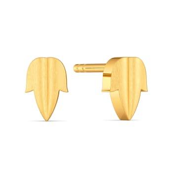 Leaf of Faith Gold Earrings