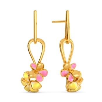 Frangipani Gold Earrings