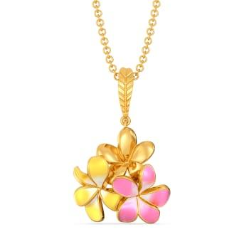 Frangipani Gold Pendants