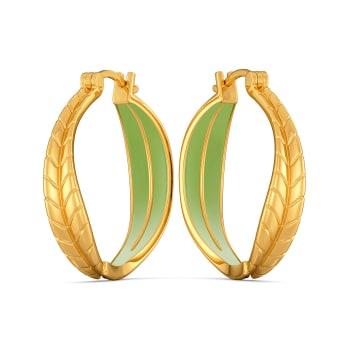 Leaf Land Gold Earrings