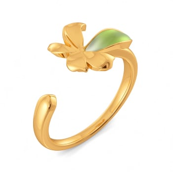 Fern Finesse Gold Rings