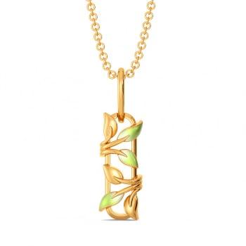 Blades of Green Gold Pendants