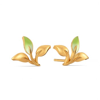 Blades of Green Gold Earrings