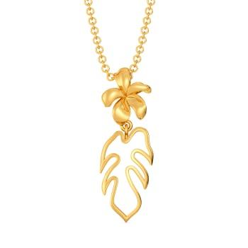 Petals & Ferns Gold Pendants