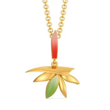 Birds of Paradise Gold Pendants