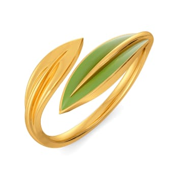 Tropical Cool Gold Rings