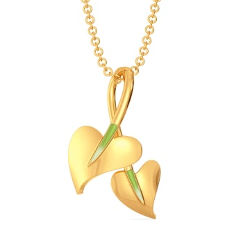 Leaf Lance Gold Pendants