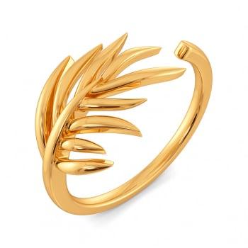 Fern N Floral Gold Rings