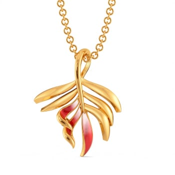 Fern N Floral Gold Pendants