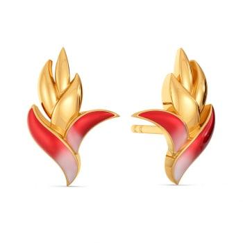 Fern N Floral Gold Earrings