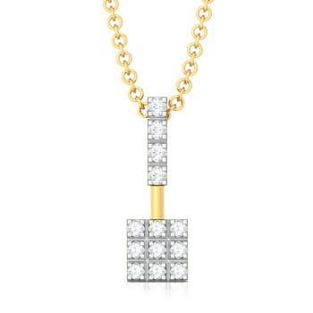 The Gingham Waltz Diamond Pendants