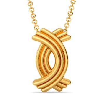 Feminine Folds Gold Pendants
