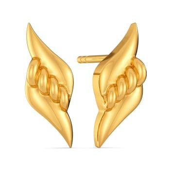 Boho Twists Gold Earrings