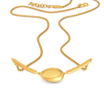 Modestly Mod Gold Necklaces