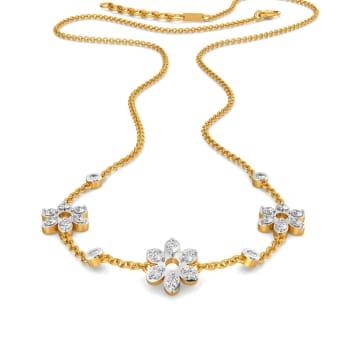 Fleur de Lace Diamond Necklaces