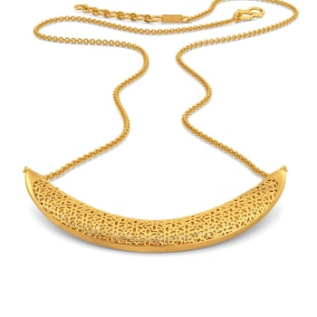 Lace Nouveau Gold Necklaces