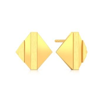 Shadow Play Gold Earrings