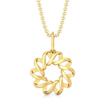 Spiral Goes Viral Gold Pendants