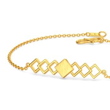 Square Overlay Gold Bracelets