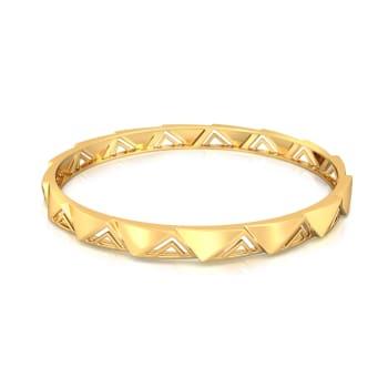 Tri-terrific  Gold Bangles