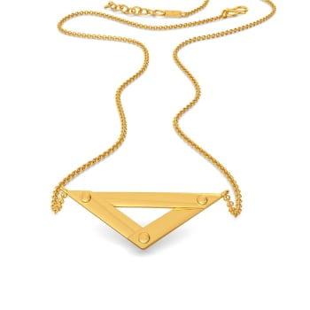 Trek Check Gold Necklaces