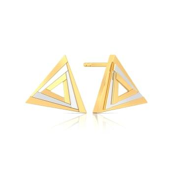 Fierce Figments Gold Earrings