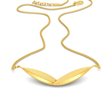 Brief Leaf Gold Necklaces