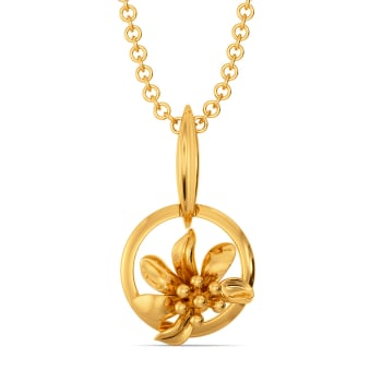 Prairie Coneflower Gold Pendants