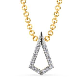 The Edgy Edit Diamond Pendants