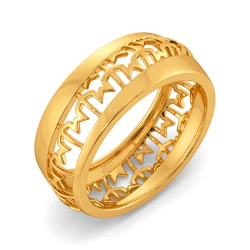 Tweed Theory Gold Rings