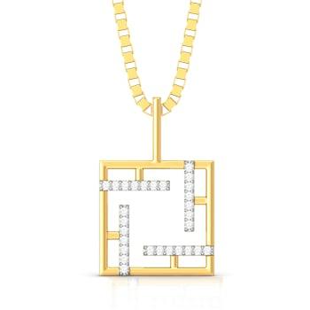 Stripe Charmer Diamond Pendants