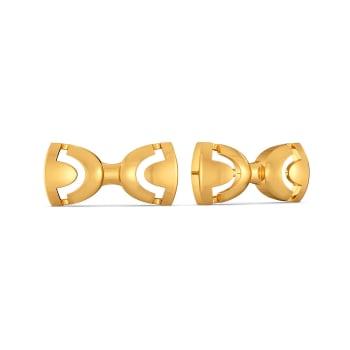 Rebel Bows Gold Earrings