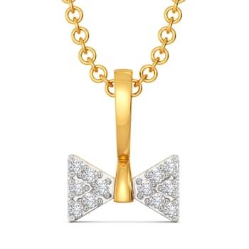The Bow Bash Diamond Pendants